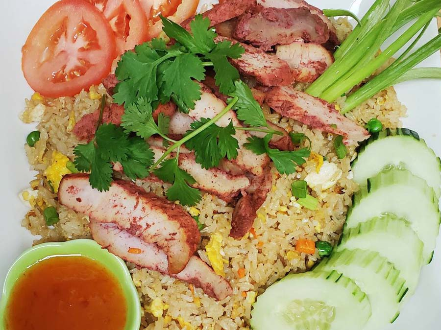 BBQ Pork with fried rice